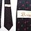 Thumbnail: Cravate noire Bovet, motifs losange