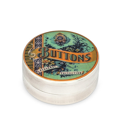 Grand boîtier rond style vintage - argent plaqué - Buttons