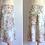 Thumbnail: Jupe trapèze à fleurs cousue main - Années 70-80