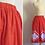 Thumbnail: Jupe années 50 rouge et blanche à pois