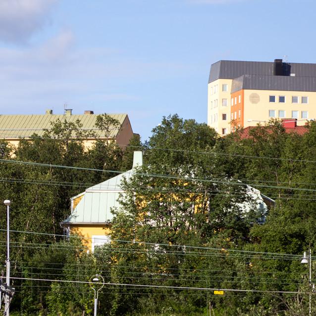 Länsmansbostaden från år 1906 flyttades 2018 till en plats närmare Kirunas nya centrum.