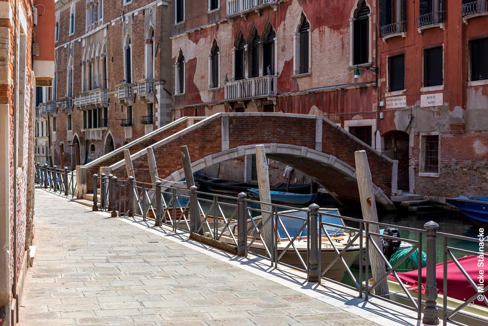 """Miljö i Venedig, Italien som syns i den sista jaktscenen i Nicolas Roegs """"Don't Look Now"""" (1973)."""