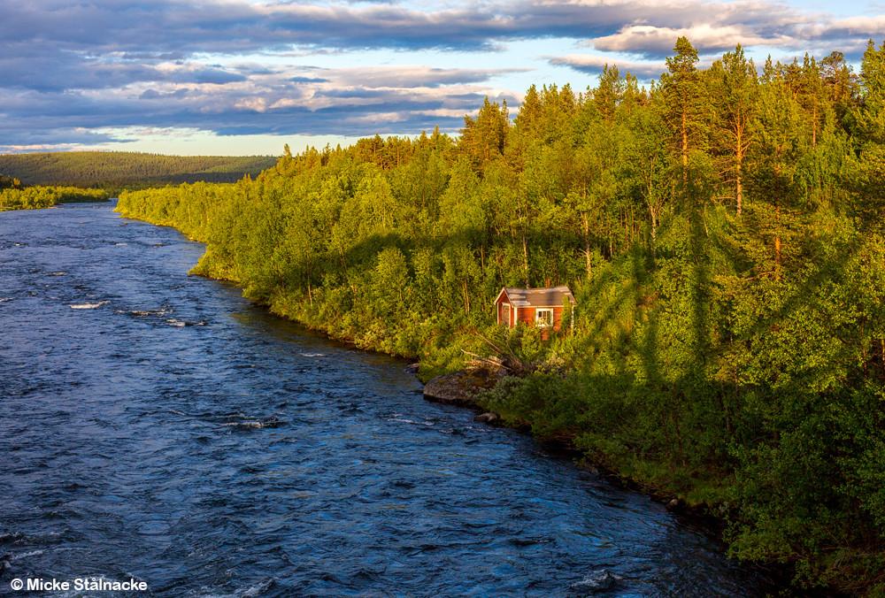 Vy från Kalixforsbron utanför Kiruna.