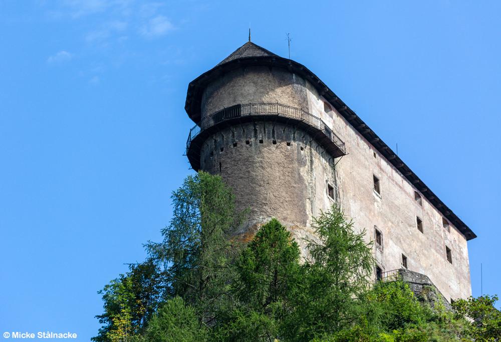 Orloks slott, egentligen Oravsky hrad i Oravský Podzámok, Slovakien.