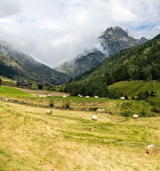 Vy från Andorra.