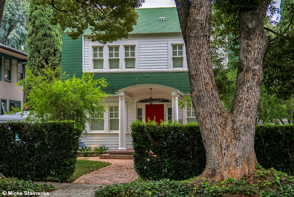 """Nancys hus i Wes Cravens """"A Nightmare on Elm Street"""" (1984). Hollywood, Kalifornien, USA."""