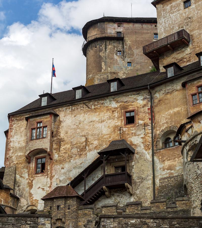 Parti av Oravsky hrad som syns i filmen.