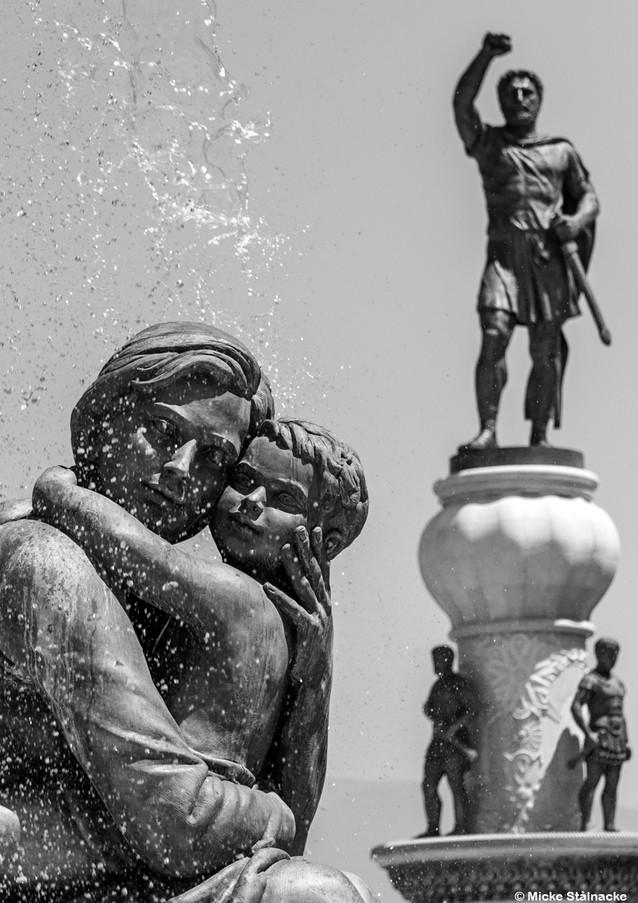 Skopje, Nordmakedonien. Klicka på pilarna i vänstra hörnet för större version av bilden.