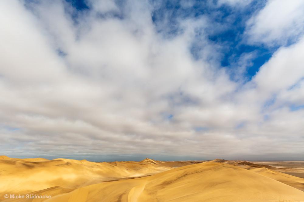 Vy från en av världens högsta sanddyner i Walvis Bay, Namibia.