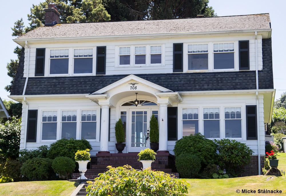 """Familjen Palmers hus i pilotavsnittet, """"Twin Peaks - Fire Walk With Me"""" och """"The Return"""". Everett, Seattle."""