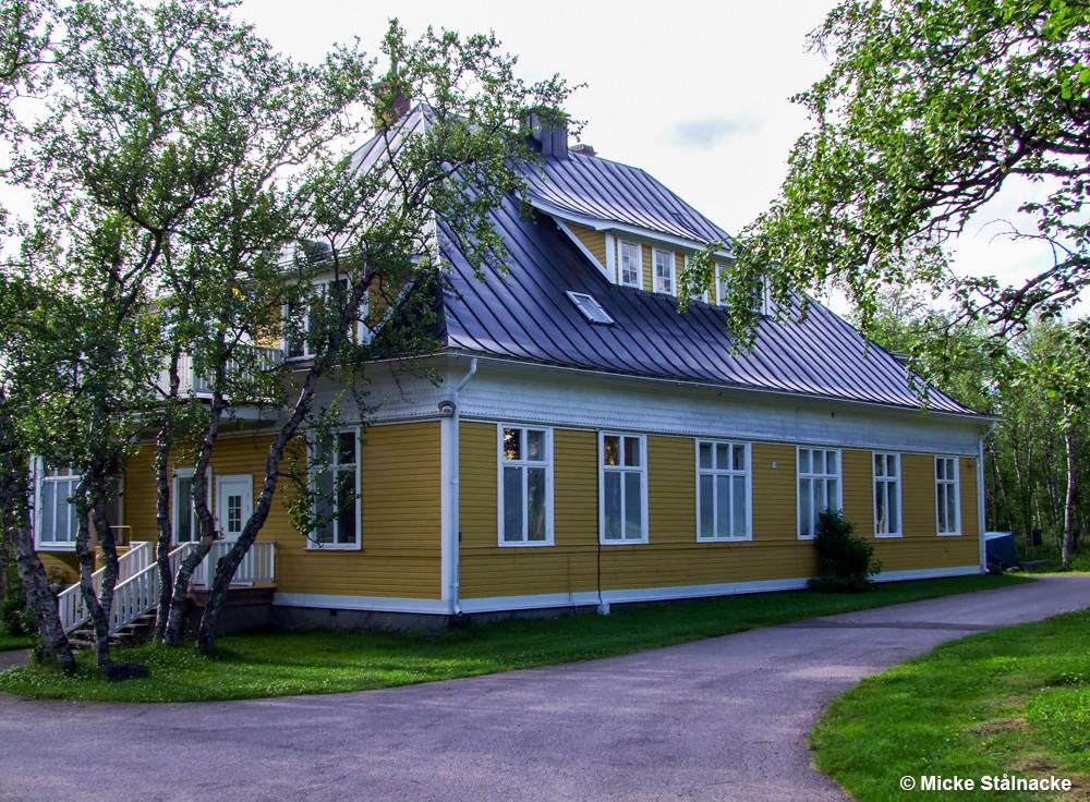 Bengt Lundgrens ingenjörsbostad från år 1900. Flyttad till foten av Luossavaara.