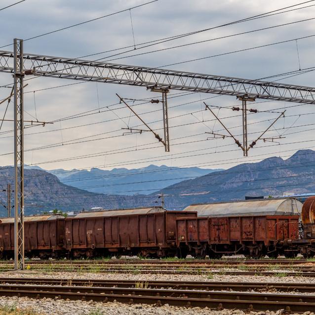 Tåg i Podgorica, Montenegro.