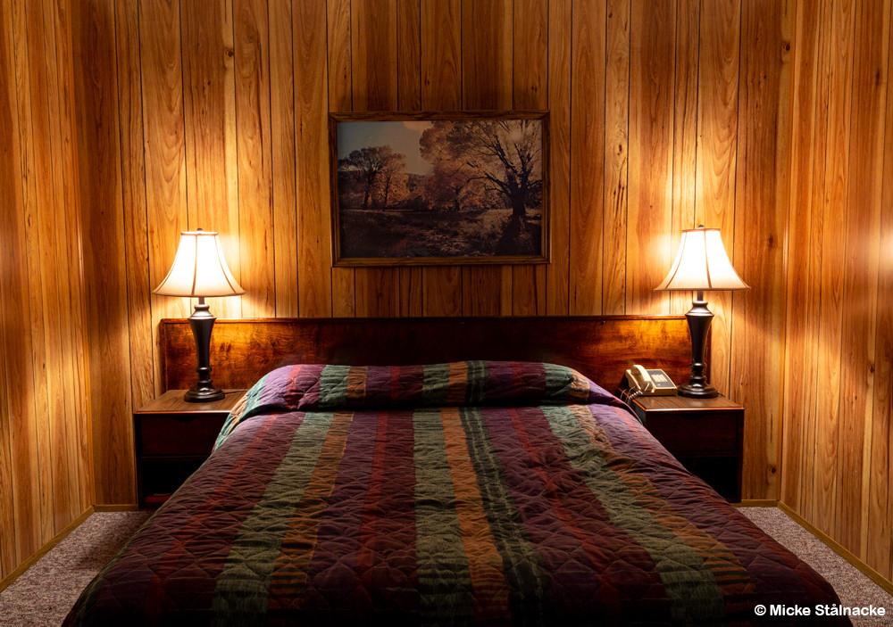 Interiör från North Bend Motel, staten Washington, USA.