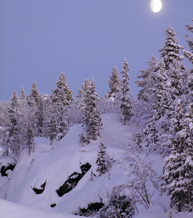 Tuolluvaaragruvans gamla dagbrott i Kiruna. Klicka på pilarna i vänstra hörnet för större version av bilden.
