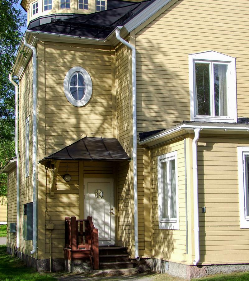 B8, LKAB:s tidigare laboratorium och senare Förmansklubb. Riven. Klicka på pilarna i vänstra hörnet för större version av bilden.