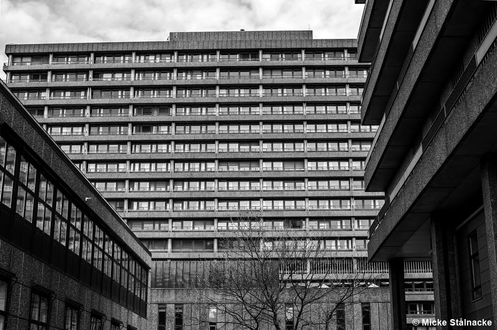 """Rigshospitalet i Köpenhamn, Danmark som användes i Lars von Triers """"Riget"""" (1994) och """"Riget II"""" (1997)."""