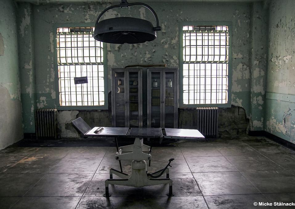 Operationssal på fängelseön Alcatraz, San Francisco.