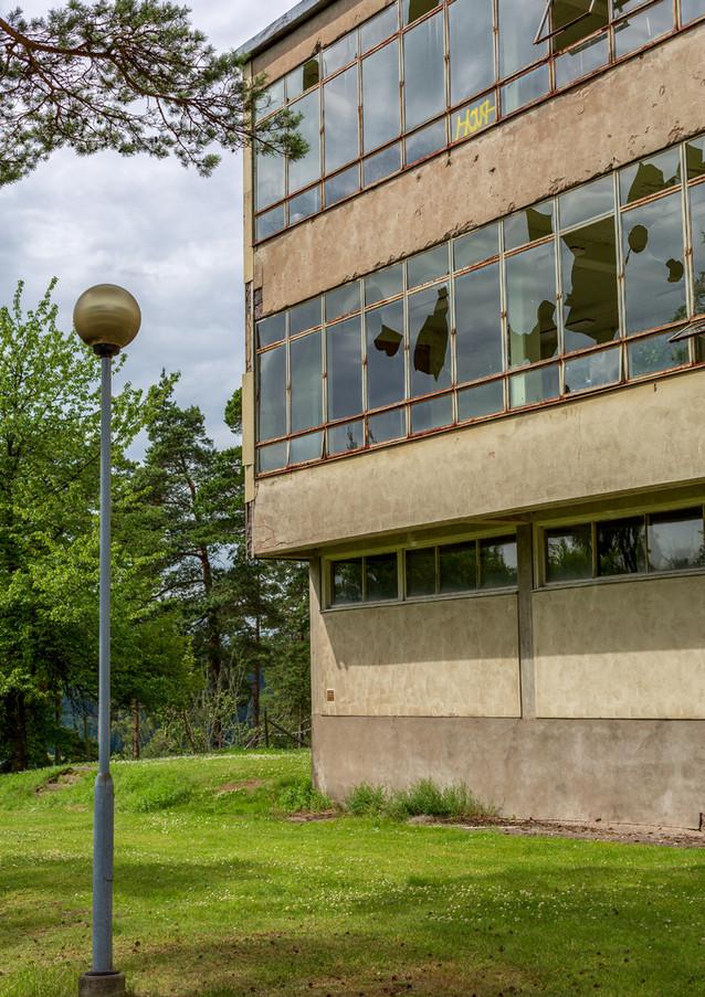 Sjögunnarsbo sanatorium, Västergötland, numera rivet. Klicka på pilarna i vänstra hörnet för större version av bilden.