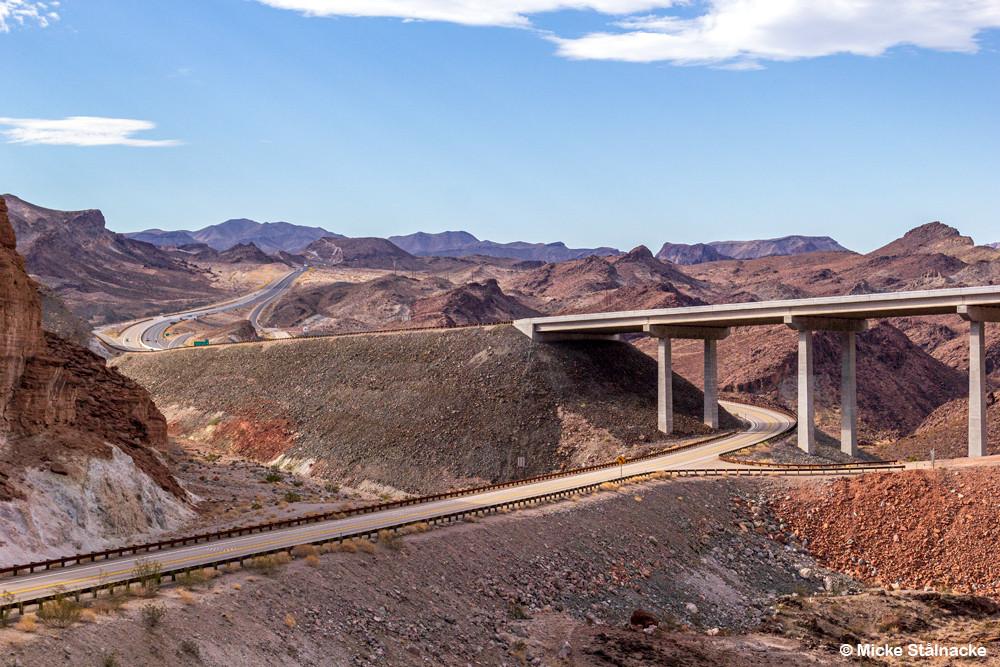 På gränsen mellan Nevada och Arizona, USA.