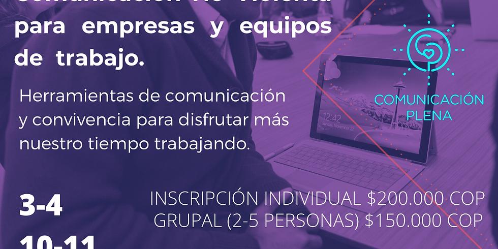 Comunicación No Violenta para empresas y equipos de trabajo