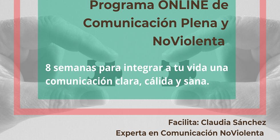Programa ONLINE  de Comunicación Plena y NoViolenta