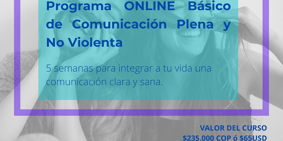 Programa ONLINE básico de Comunicación Plena y No-Violenta