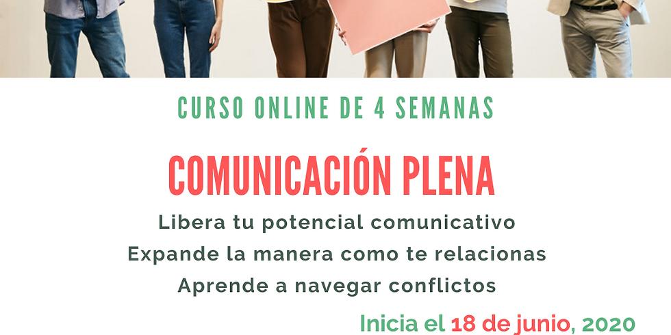 Curso ONLINE básico de Comunicación Plena y No-Violenta Junio