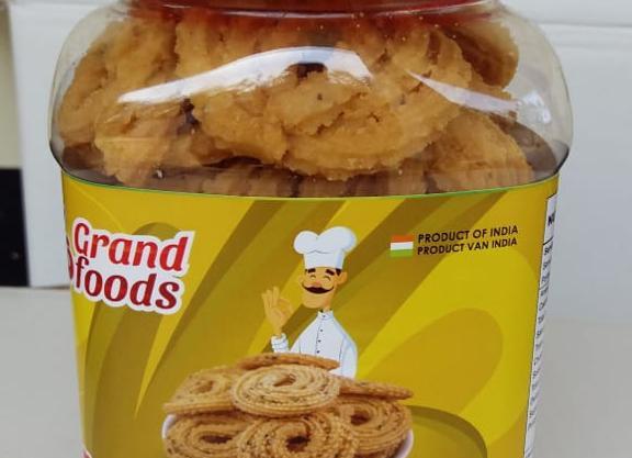 Grand Foods Round Murukku (Jar) 250 gm