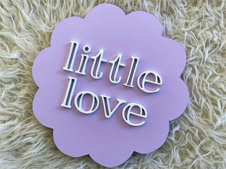 Scalloped Little Love - Lavendar