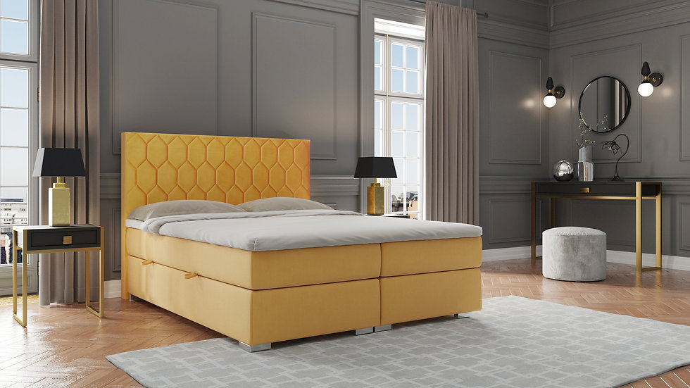 CANNES CONTINENTAL BED WITH 2 STORAGE CONTAINERS