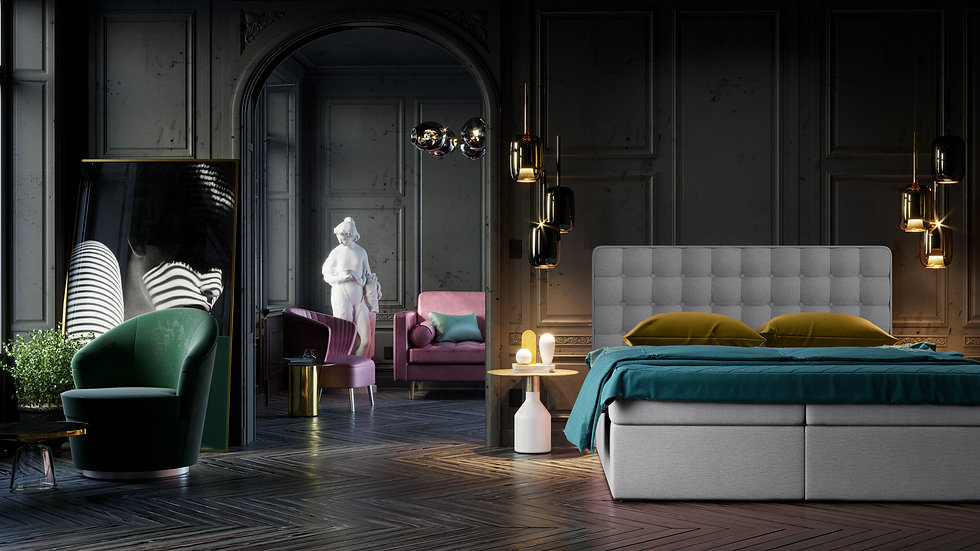 FEEL ME CONTINENTAL BED WITH 2 STORAGE CONTAINERS