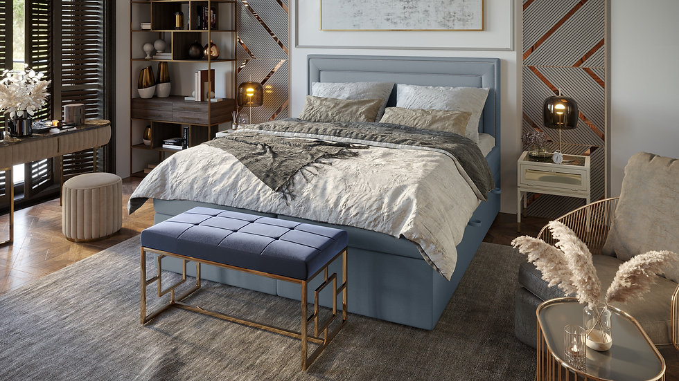 ANNECY CONTINENTAL BED WITH 2 STORAGE CONTAINERS