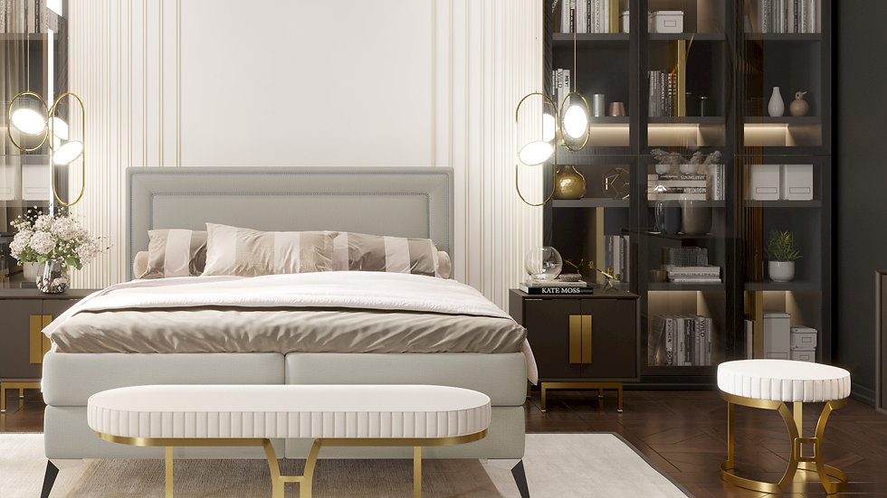 Soho continental bed with 2 storage containers
