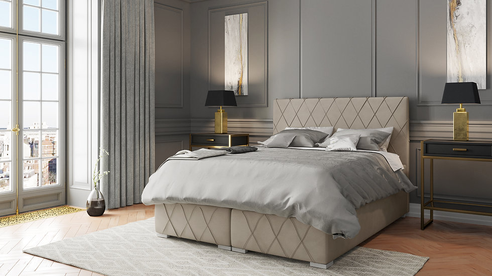 NANTES CONTINENTAL BED WITH 2 STORAGE CONTAINERS