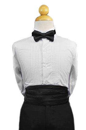 2 pc (Black Satin Bow Tie and Cummerbund)