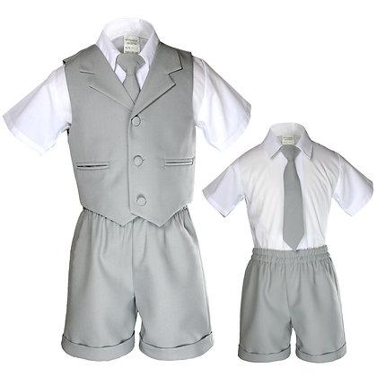 BT222 Silver Boys Vest Shorts Sets S-4T