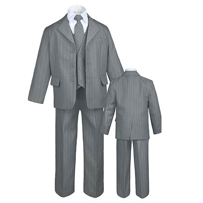 Boy Grey Formal Pinstripe Suits (S-4T)