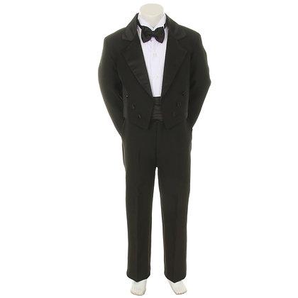 BY008 Black Boy Tuxedo (S-4T)