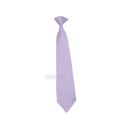 Lilac Satin Clip-on Long Necktie (S-20)
