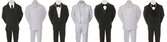 6 packs boy suits & Tuxedos (S, M, L, XL)