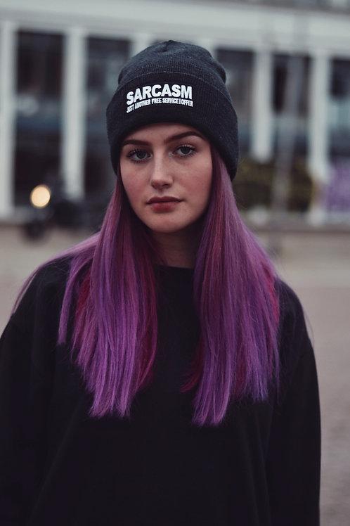 Unisex zimní čepice - Sarcasm (dark grey)
