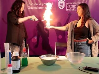 Programa del Ayuntamiento de Iruñea para aprender química de forma divertida