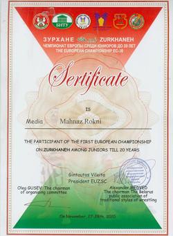 sertificate belarus