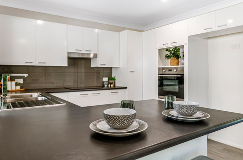 Glossy modern cabinetry