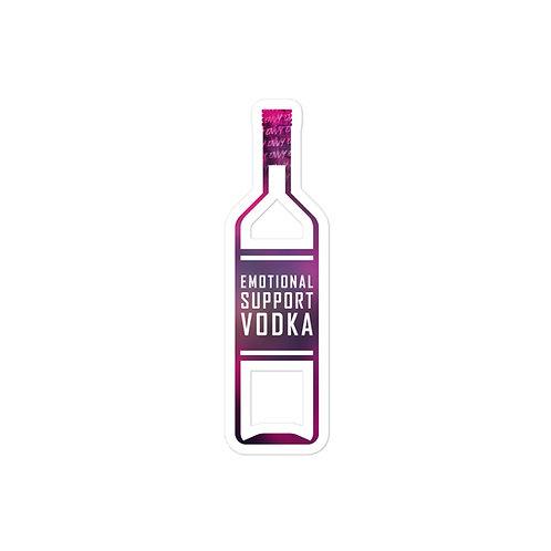 """""""Emotional Support Vodka"""" Sticker"""