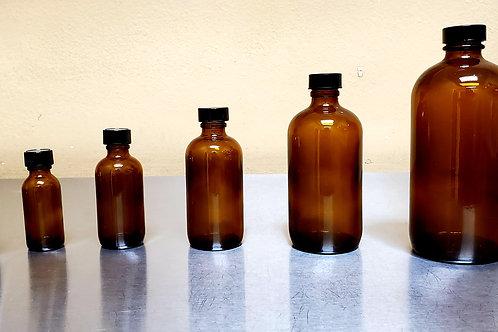 Glass Bottle, Amber