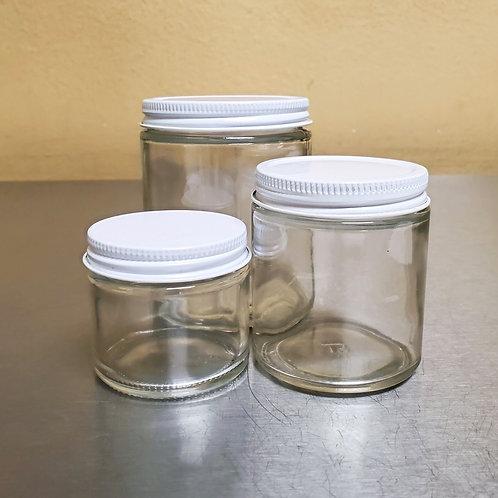 Glass Salve Jars