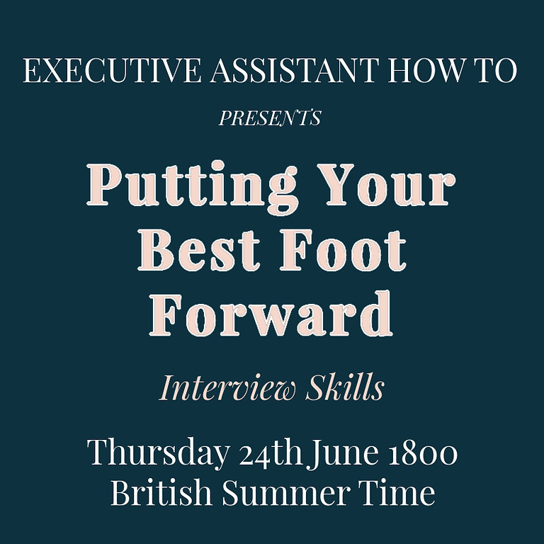 Putting Your Best Foot Forward When Interviewing
