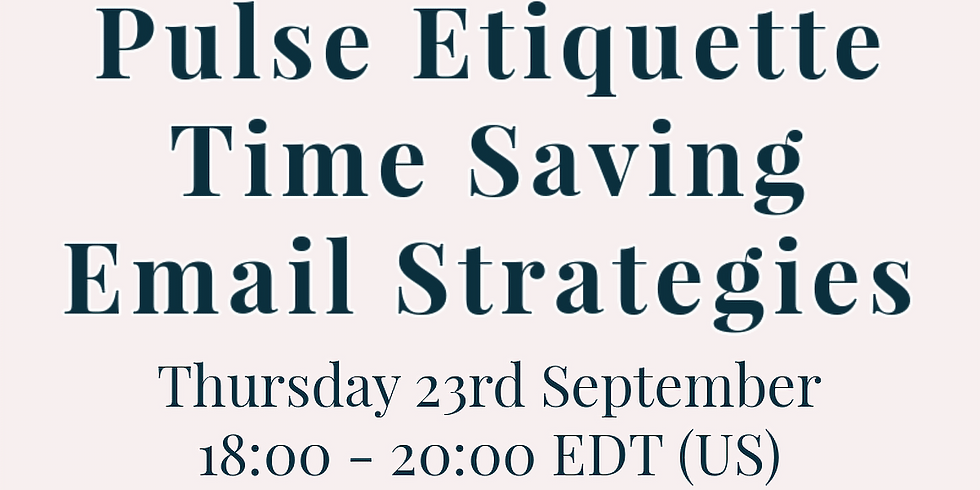 Pulse Etiquette with Double Gemini   Time Saving Email Productivity