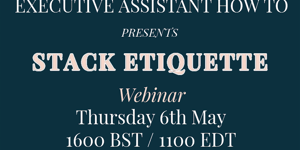Time Saving Stack Etiquette with Prasanth Nair